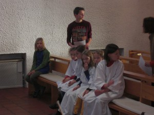 Engel und Wirte, Krippenspielprobe 2014